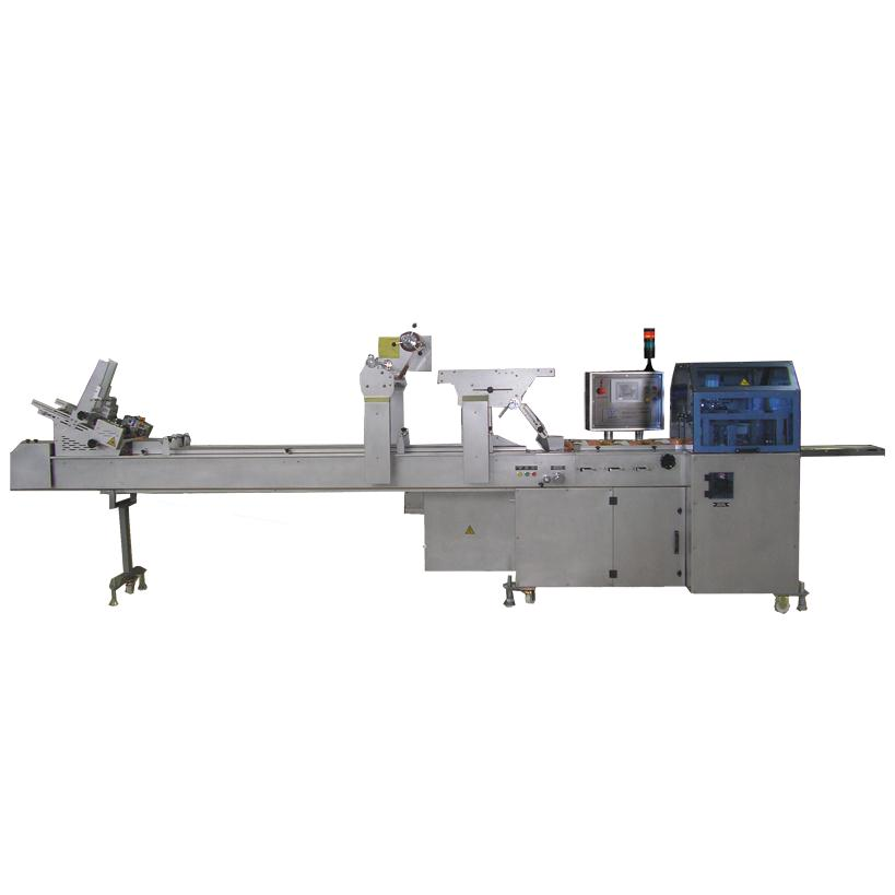 OPMS 1004 STAINLESS STEEL WITH THREE SERVO MOTION CONTROL CARTON FEEDING BATON CAKE PACKAGING MACHINE