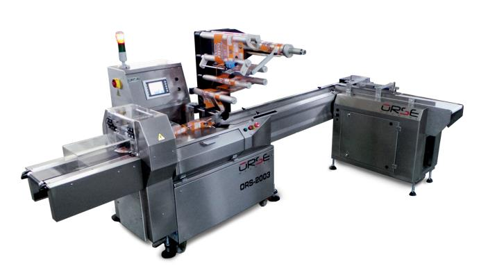 ORS 2003 STAINLESS STEEL WITH TWO SERVO MOTION CONTROL PACKAGING MACHINE WITH TWO BAND SIDE FEEDING