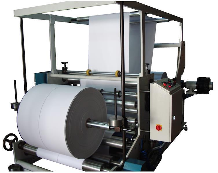 SM200 MACHINE DE TRANCHEUSES & BOBINEUSE PAPIER KRAFT 150 MT MUNITE