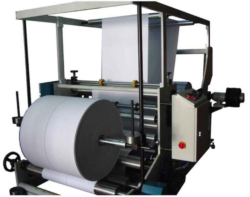 SM125 MACHINE DE TRANCHEUSES & BOBINEUSE PAPIER KRAFT 150 MT MUNITE